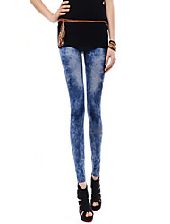 Women Denim Legging , Nylon/Others