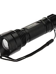 Lampes Torches LED / Lampes de poche (Faisceau Ajustable / Tête crénelée / Rechargeable / Tactique / diri / Ultra léger / Taille Compacte
