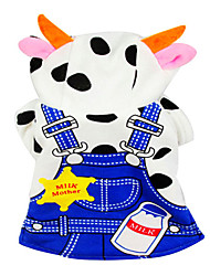 Maman Cow style vestimentaire ensemble mignon pour Animaux Chiens (Assorted Sizes)