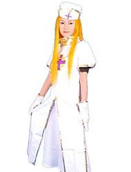 Disfraz de Halloween Santa Cruz batalla enfermera Vestido blanco de la Mujer