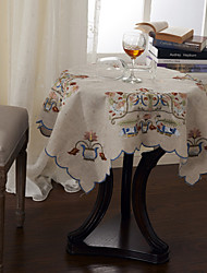 Ropa de cama Paños coloridos bordados de mesa florales