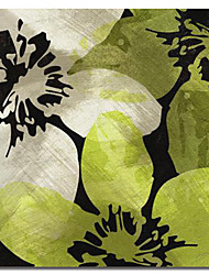 Stretched Canvas Art Abstract Leaves