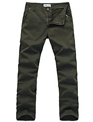 Puce Pure Color minces Pants