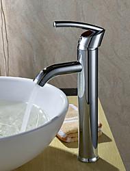 Robinet de salle de bain Sprinkle®  ,  Dessus de Meuble  with  Chrome 1 poignée 1 trou  ,  Fonctionnalité  for Centerset