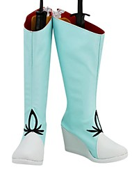 RWBY Weiss Schnee Sky Blue PU Leder Wedge Damen Stiefel
