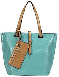 pmsix donne semplice embrossed pietra borsa del modello (una cinghia di spalla) colore rivestimento casuale