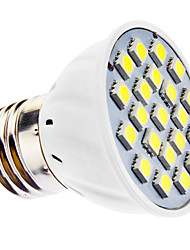 3W E26/E27 Spot LED MR16 21 SMD 5050 240 lm Blanc Naturel AC 110-130 / AC 100-240 V