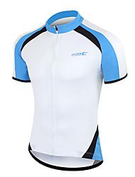 SANTIC Men's 100% Polyester Fiber Road Bike Cycling Breathable T-Shirt(Blue)