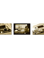 Stretched Canvas Art Transportation Old Cars Set of 3