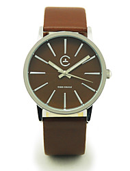 TIME CIRCLE Fashionable Style Stylish Leather Band Quartz Analog Wrist Watch