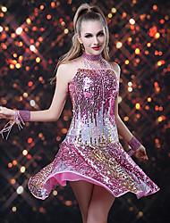 Dancer Dusche Tassel Paillette Zauberhaft Beleg Latin Kleid Damen-Kostüm