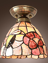 Rustic Nature-Inspired Ceiling Lamp With Colourful Flower