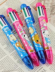 6 Farbe Cartoon Bear Pattern Kugelschreiber