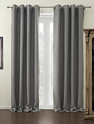 TWOPAGES® Modern Solid Blackout Curtains