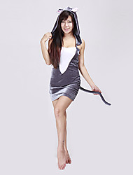 Cute Grey Mouse Dress Women's Halloween Costume (1 Pieces)