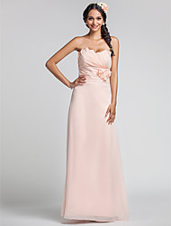 Bridesmaid Dress Floor Length Chiffon Sheath Column Sweetheart Dress (568344)