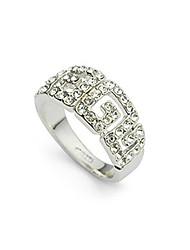 Silber Vollzeit-Diamant Clip Art-Höhle Ring (verschiedene Größe)