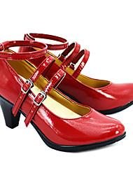 Dangan Ronpa Celestia Ludenberg Red Shiny Boots Cosplay