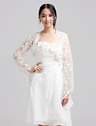 Wedding  Wraps Coats/Jackets Long Sleeve Lace Ivory Wedding / Party/Evening / Casual Bell Sleeves Open Front