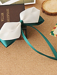 Green Satin Ribbon 11cm Bow Sweet Lolita Barrette
