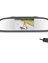 Car Rearview Mirror with 4.3 Inch TFT-LCD Display Backup Parking  with Camera