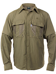 EXPLORER Men's Shirt Tactel Detachable Quick Dry Dark Green, Khaki, Light Gray, Dark Gray