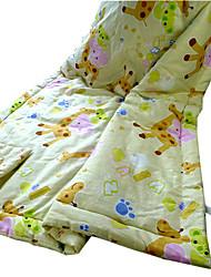 100%Cotton Reactive Printed Yellow Deer Baby Blanket