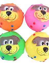 Cabo Carino Dog Face gomma Squeaking giocattolo per animali Cani (colori assortiti)