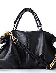 LuoLanBag Genuine Leather Chain Tote