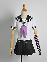 Inspired by Dangan Ronpa Celestia Ludenberg Video Game Cosplay Costumes Cosplay Suits / School Uniforms Patchwork Black Short SleeveTop /