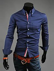 Темно-синий RR ПОКУПАТЬ Человек Повседневная футболка с длинным рукавом