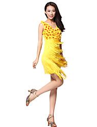 Performance Polyester Vêtements avec des glands robe de danse latine pour les dames (plus de couleurs)