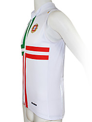 Kooplus2013 Championship Jersey Portugal 100% Polyester Wicking Fibers Sleeveless Cycling Vest with Reflective Tape