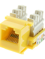 Cat5e Punch Down Keystone Jack Jaune