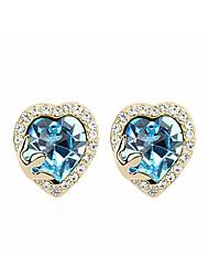madou princess ocean blue heart Bolzenohrrings