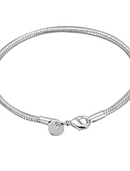 Unisex's Silver Bracelet Jewelry Christmas Gifts