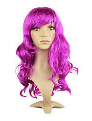 Capless Top Grade Synthetic Purple Straight Long Hair Wig