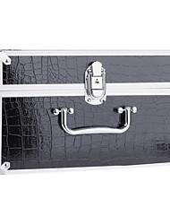 New Pro Makeup Artist Cosmetic Train Case Bag Box Set Code Lock Aluminum