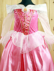 Cosplay Costumes / Party Costume Princess Festival/Holiday Halloween Costumes White / Pink Solid / Lace DressHalloween / Carnival /