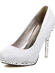 Tasteful Low Platform High Heel Pumps with Sequin Party Shoes(More Colors)