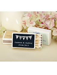 Wedding Décor Personalized Matchbooks - Pennant Flag-Set of 12 (More Colors)