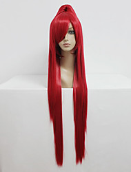 Cosplay Wigs Fairy Tail Erza Scarlet Red Long / Straight Anime Cosplay Wigs 100 CM Heat Resistant Fiber Female