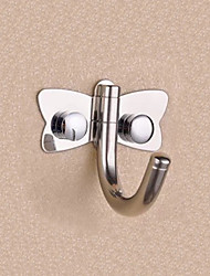 "Robe Hook Stainless Steel Wall Mounted 60 x 50 x 50mm (2.4 x 2 x 2"") Stainless Steel Contemporary"