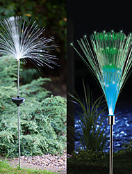 2-er Set Solar-Fiber Optic Licht Fountain Garden Stake (cis-57185)