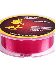 100M Wine Red Nylon Fishing Line