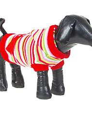 Perros Suéteres Rojo Invierno Rayas