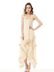 Moda ShaMaQiNuo das mulheres vestido de chiffon