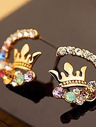 Изысканный Super Flash яркий алмаз алмазный венец красочные серьги E518