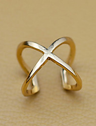 Women's Hollow X Shape Open Ring