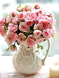 "11 ""h maria rosas arranjo em vaso de cerâmica"